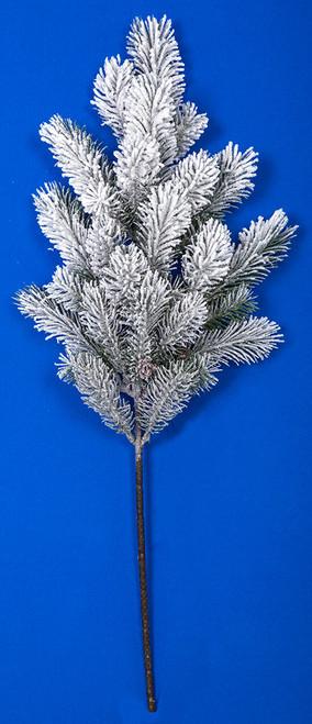 Snowy glittered pine spray