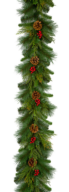 C-170013 9'  Mixed Pine Garland