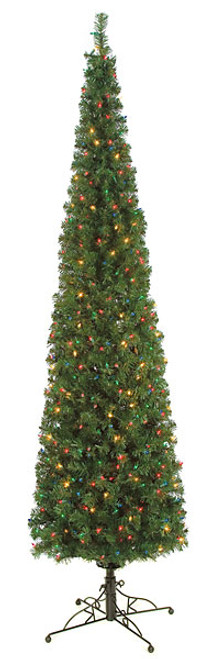 7.5 Ft or 9 Ft Multi-Colored Charleston Pine Pencil Tree