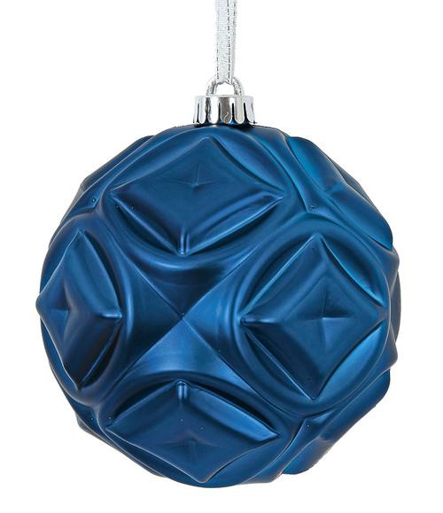"""J-171190 6"""" Matte Blue Diamond Ball"""