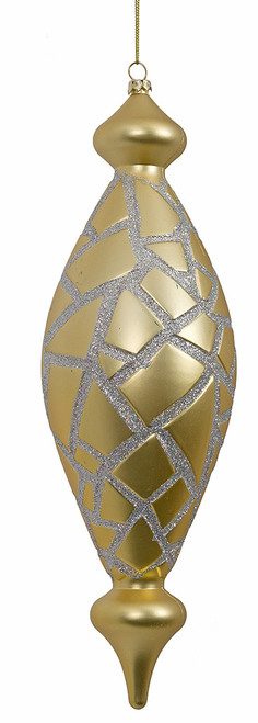 "J-171760 11"" Matte Gold Mosaic Finial"
