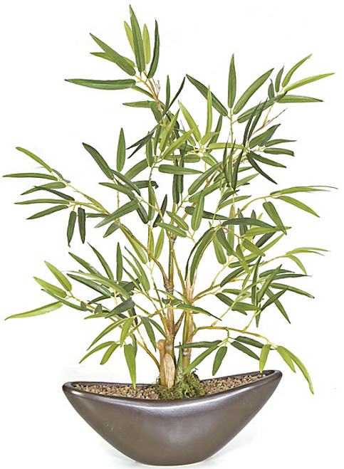 "P-90810 15"" Potted Bamboo Plant"