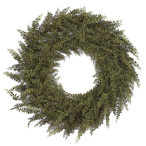 "30"" Buckler Fern Wreath Brownish Green"