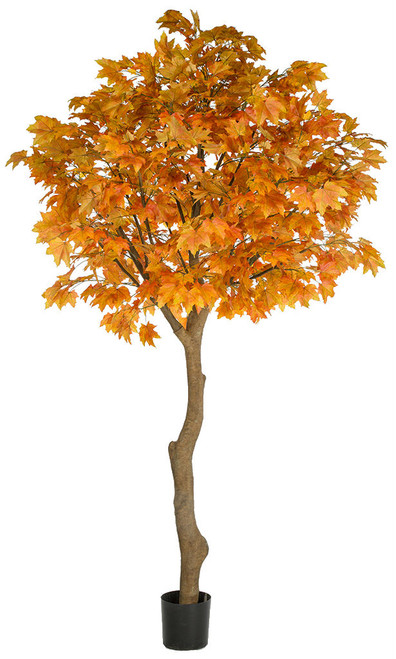 P-181360 10.5' Sugar Maple Tree on Synthetic Trunk Orange/Red