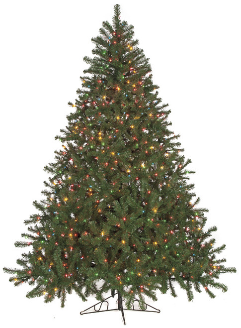 "9' Virginia Pine Tree 900 Multi-Colored Lights 84"" Width"