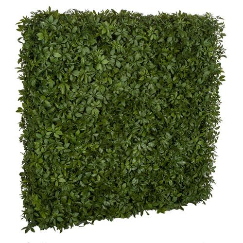 """49"""" L x 10"""" W x 48"""" H UV Schefflera Leaf Hedge"""