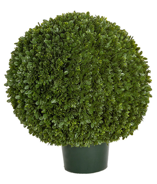 """24"""" Overall Height  Japanese Boxwood Ball Topiary Ball Size - 21"""" Wide x 18"""" Height Limited UV Resistance"""