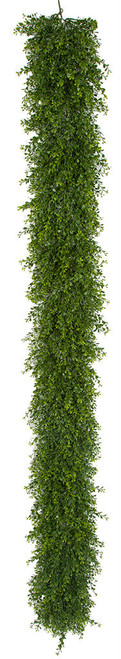 6.5' UV Mini Leaf Boxwood Garland Limited UV