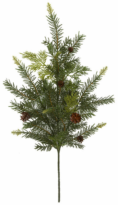"28.5"" Mixed Pine Spray with Pine Cones Natural Touch"