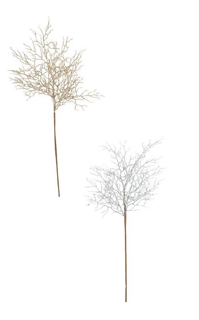 Glittered Twig Sprays A-195030 - Silver A-195032 - Gold