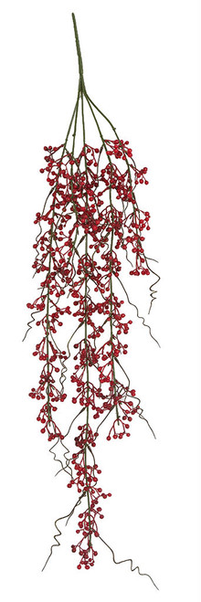 """31"""" Overall Length Hanging Red Berries"""