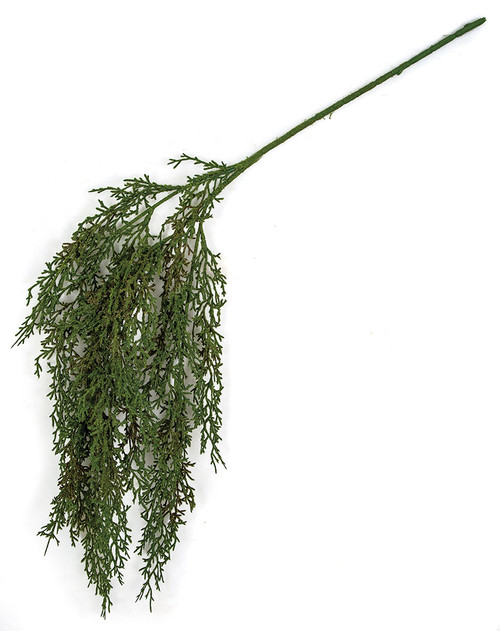 "A-191740 30"" Hanging Flocked Western Juniper Spray"