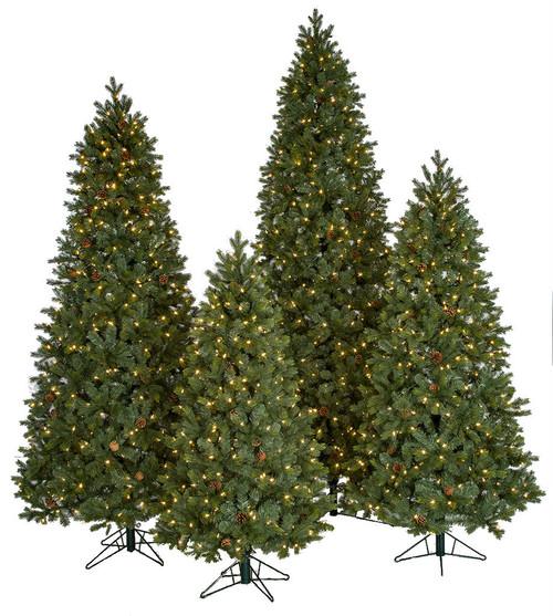 PE/PVC Mixed Needle Spruce Trees w/LED Lights
