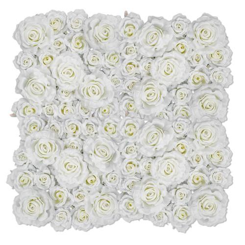 """20"""" x 20"""" Cream/White Rose Mat 3"""" Height"""