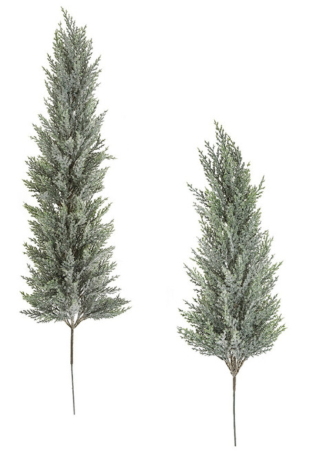 "26"" or 40"" Snowy Frosted Cedar Trees"