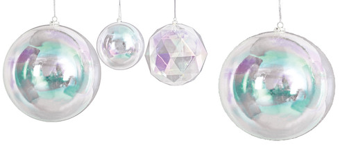 "Round Ball Ornaments - 5"" , 10"" and 12"" Multi-Faceted Ball Ornament - 6"""