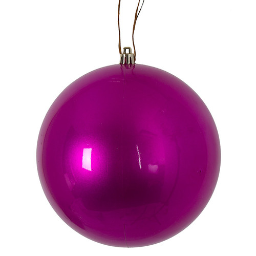 "6""Fuchsia Ball Ornament"