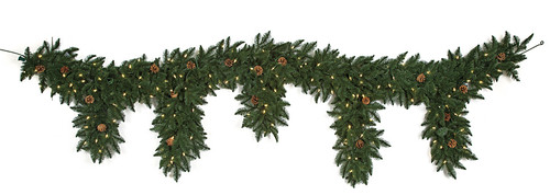 9' PE Mixed Grand Fir Dripping Swag/Garland