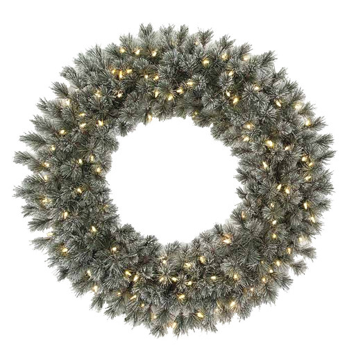 "36"" Frosted Butte Pine Wreath"