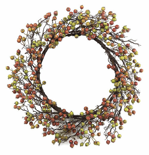 "26"" Fall Gooseberry Wreath"