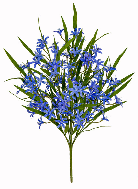 21 Inch Mini Purple/Blue Lily Bush x 9