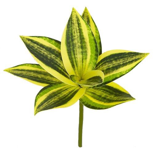 "AR-197490 9.75""L  x 7"" W Sansevieria Plant Green/Yellow"