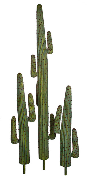 "Green Saguaro Cactus with Reddish Brown Needles 3 Sizes: 51"", 58"", or 8' tall"