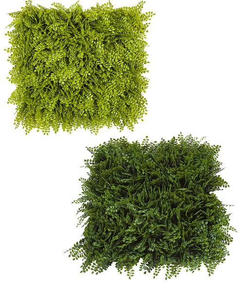 """20"""" x 20"""" x 5"""" Button Fern Mats Light Green or Tutone Green"""