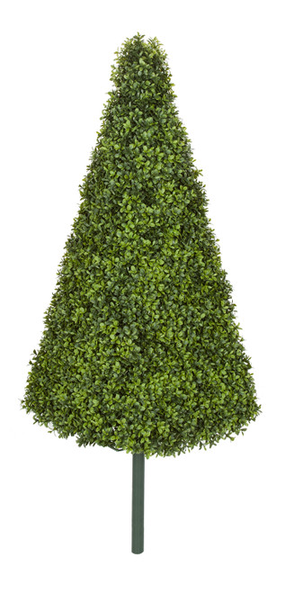 "38"" English Boxwood Pyramid Topiary"