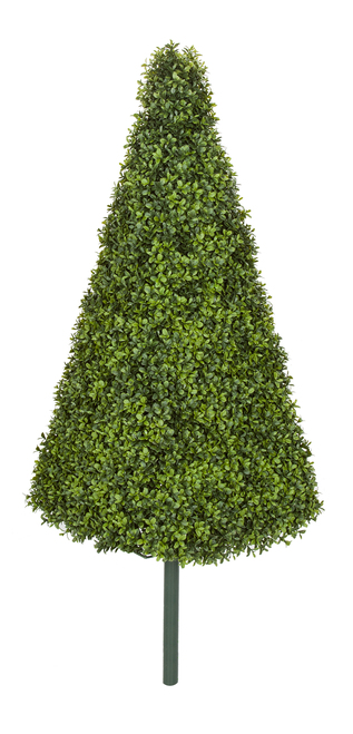 "38"" English Boxwood Pyramid Topiary"