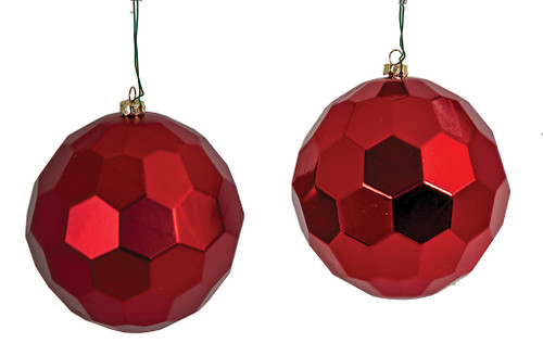 """5"""" Red Matte or Shiny Honeycomb Ball"""
