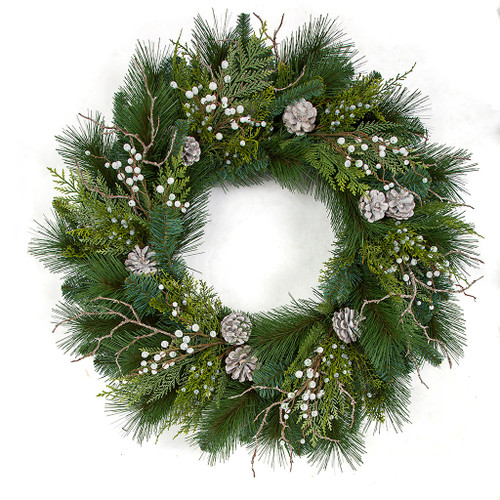 "30"" Mixed PVC Alban Pine Wreath"