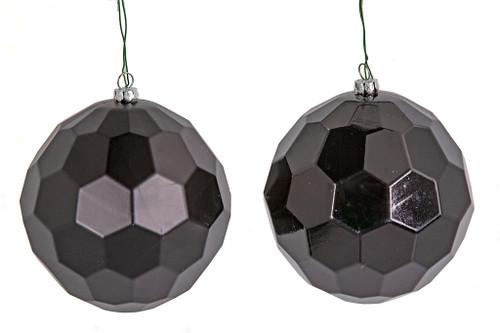 "5"" Matte or Black Honeycomb Ball Ornaments"