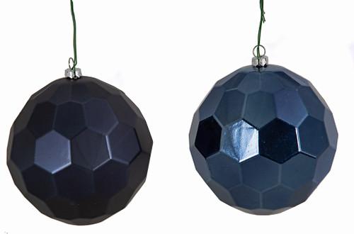 "5"" Matte or Reflective Navy Blue Honeycomb Balls"
