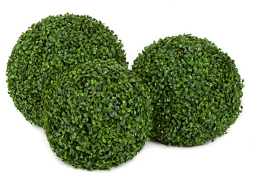 """Plastic Boxwood Balls Each Sold Separately 12"""", 14"""" or 16"""" Sizes"""