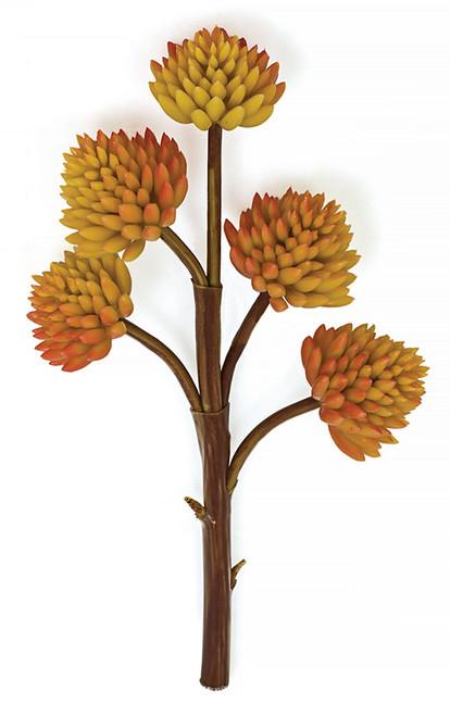 """9"""" Orange Succulent Stem x 5"""