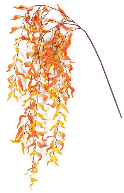 "30"" Hanging Fall Weeping Willow Branch Orange/Gold"
