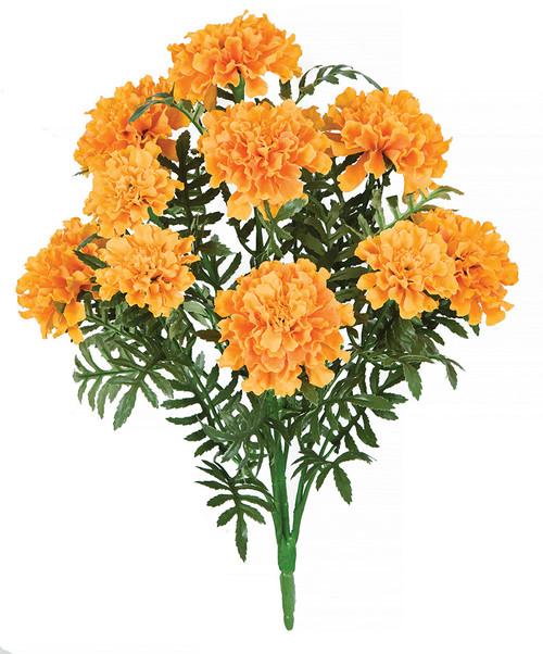 "18"" Light Orange Marigold Bush Fire Retardant"