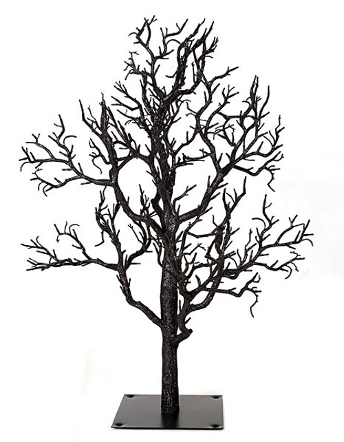 30 Inch Glittered Twig Tree Black