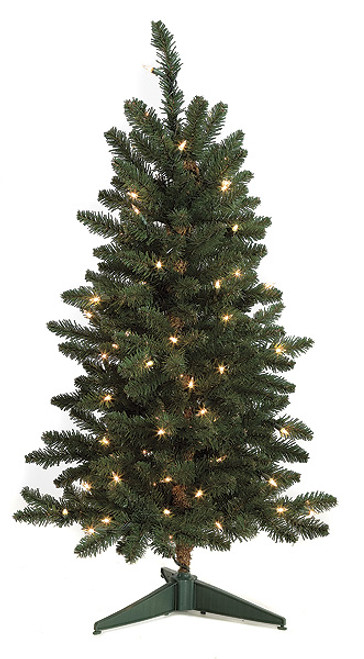 """3"""" Pre-lit Fir Tree with Clear Lights"""
