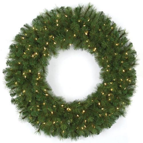 48 Inch Mika Pine Wreath 300 Tips 150 LED Lights