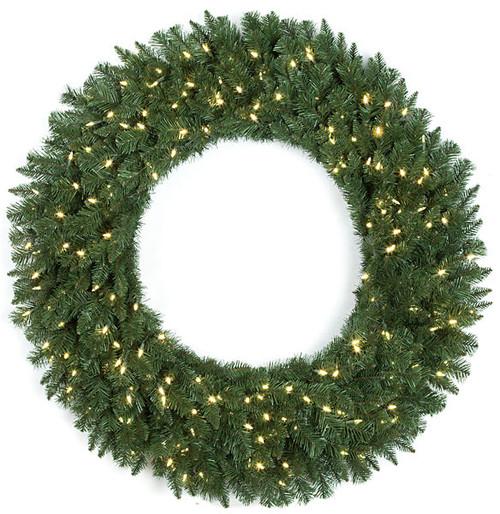 "C-13049472"" Monroe Pine Wreath with LED Lights"
