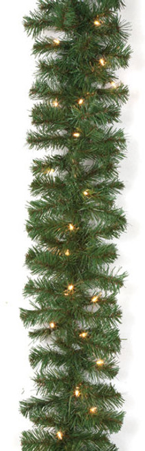 """C-261119' Virginia Pine Garland with Clear Lights12"""" Width"""