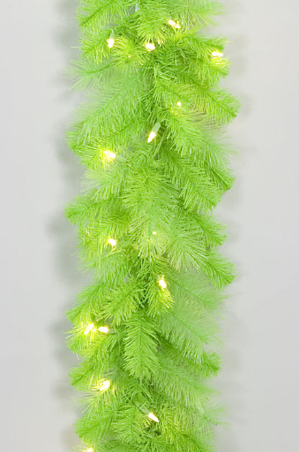 6' Lime Green Garland