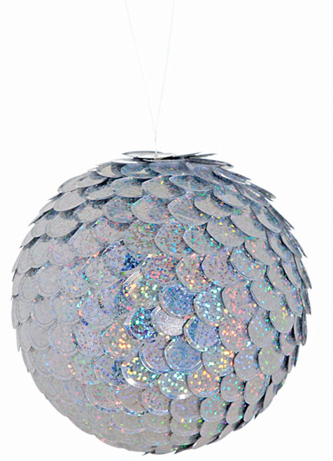 5 Inch Sequin Ball Iridescent/Silver
