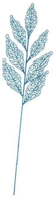 """A-16070027"""" Glittered Leaf SprayBlue"""