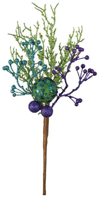 "PF-16008015"" Glittered Berry/Ball SprayGreen/Blue/Purple"