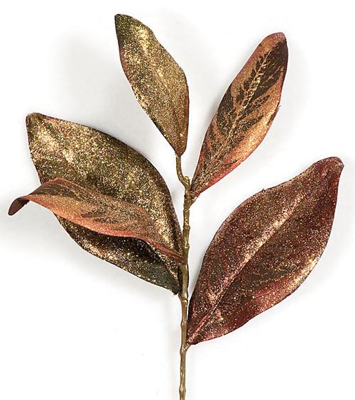 13 Inch Magnolia Leaf Pick Gold/Copper