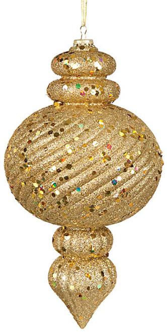 14 Inch Glittered Twill Calabash - Gold