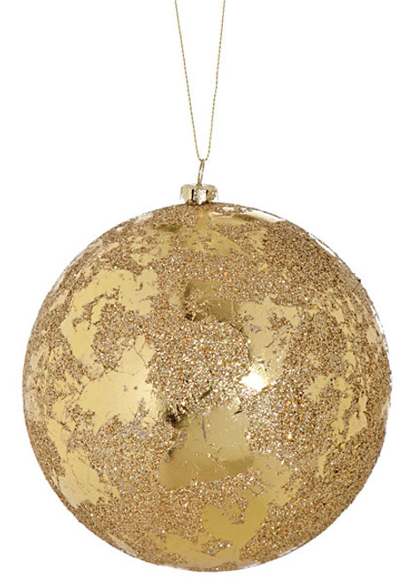 5 Inch Shiny/Glitter Ball - Gold